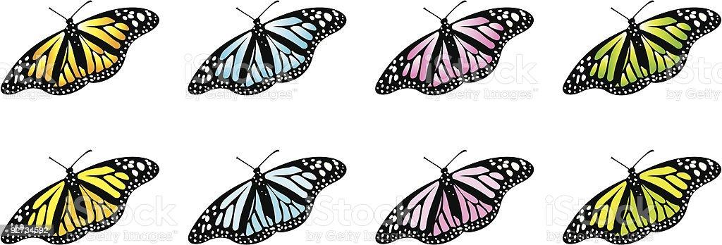 Vektor-Schmetterlinge Lizenzfreies vektorschmetterlinge stock vektor art und mehr bilder von bunt - farbton