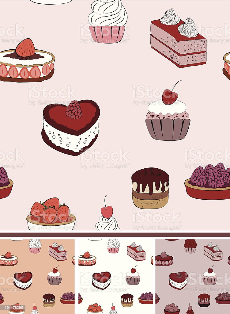 Vector cake seamless royalty-free stock vector art