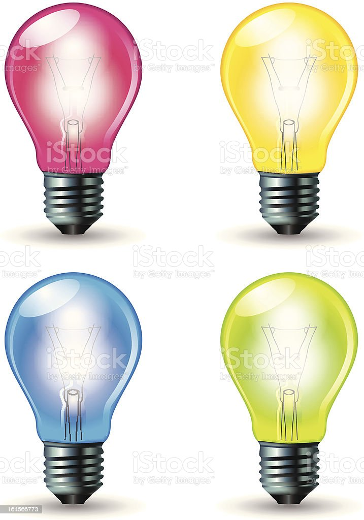 Vector Colorful Bulbs royalty-free vector colorful bulbs stock vector art & more images of colors
