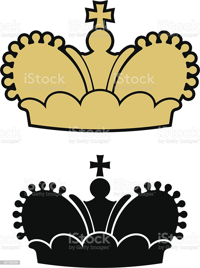 Vector Crown royalty-free stock vector art