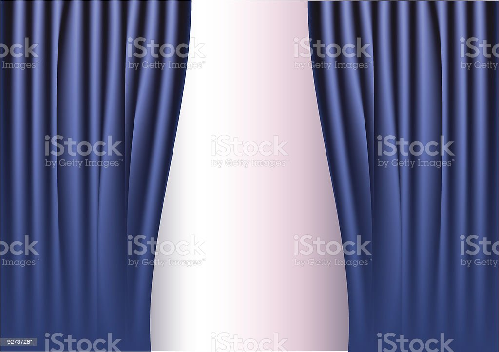 vector curtain - Royalty-free Color Image stock vector