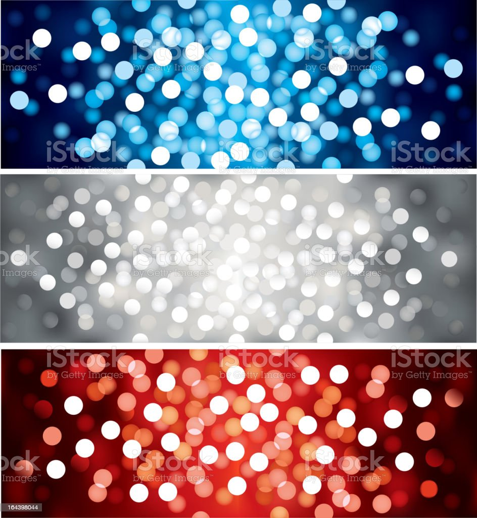 Vector defocused lights royalty-free stock vector art
