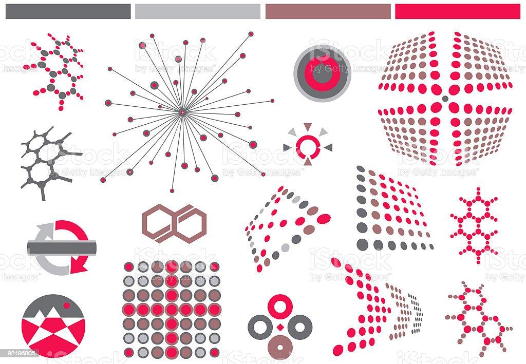 Vector Design Elements ONE royalty-free stock vector art