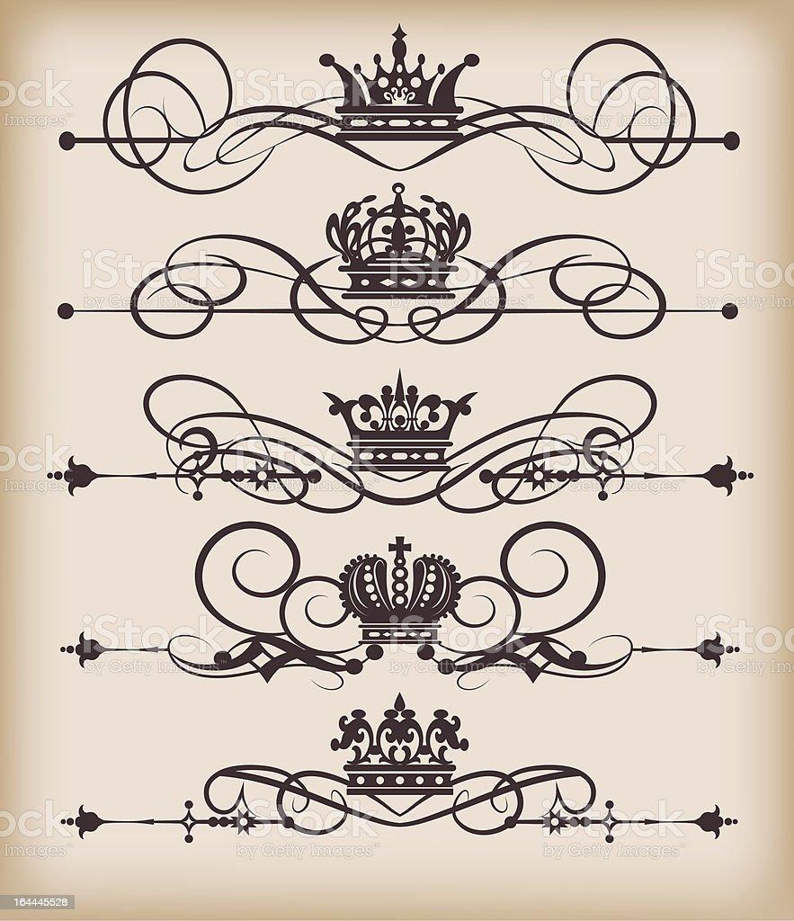 Vector Design Elements - set 11 royalty-free stock vector art