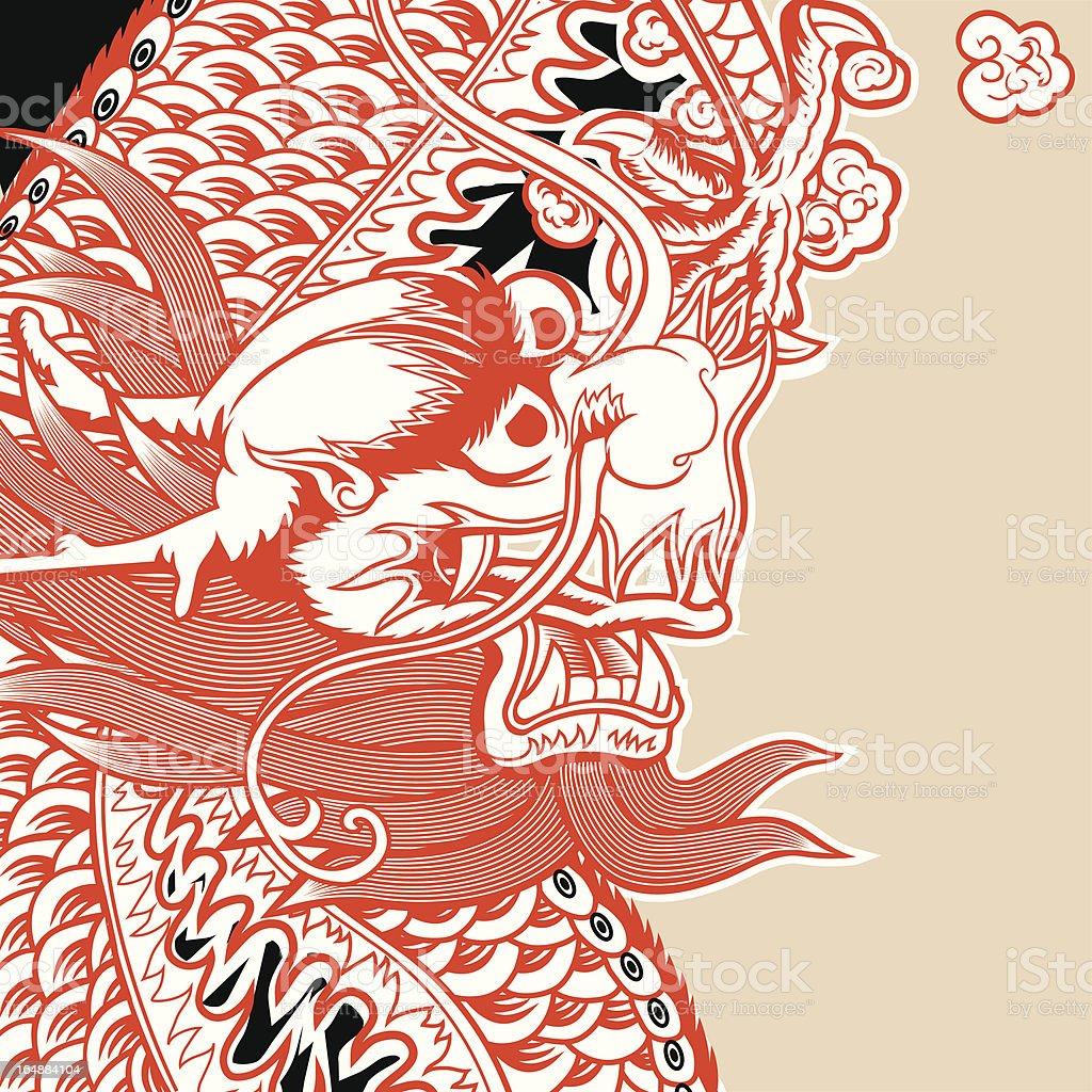 Vector Dragon (Tatsu) royalty-free stock vector art