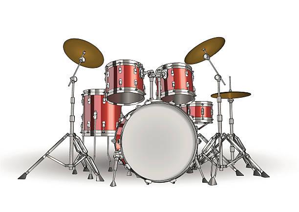 Vector drum kit vector art illustration