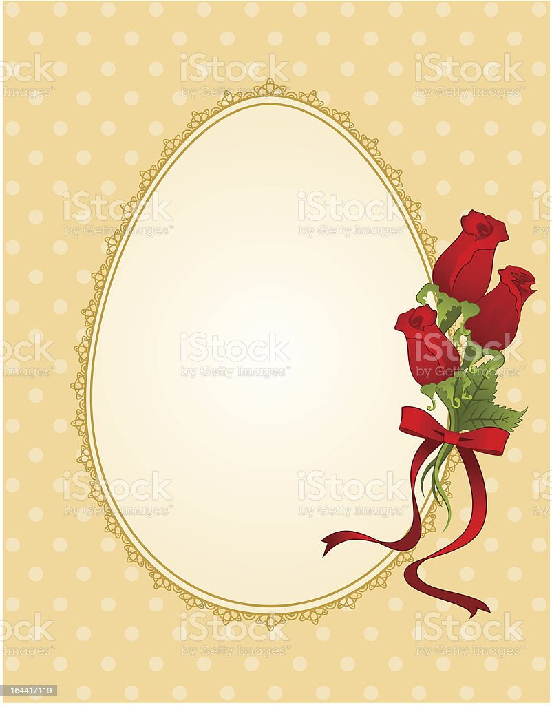 Vector easter card with flowers royalty-free stock vector art