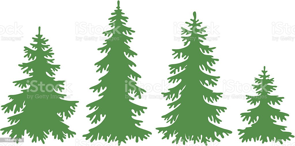 Vector fir-trees royalty-free stock vector art
