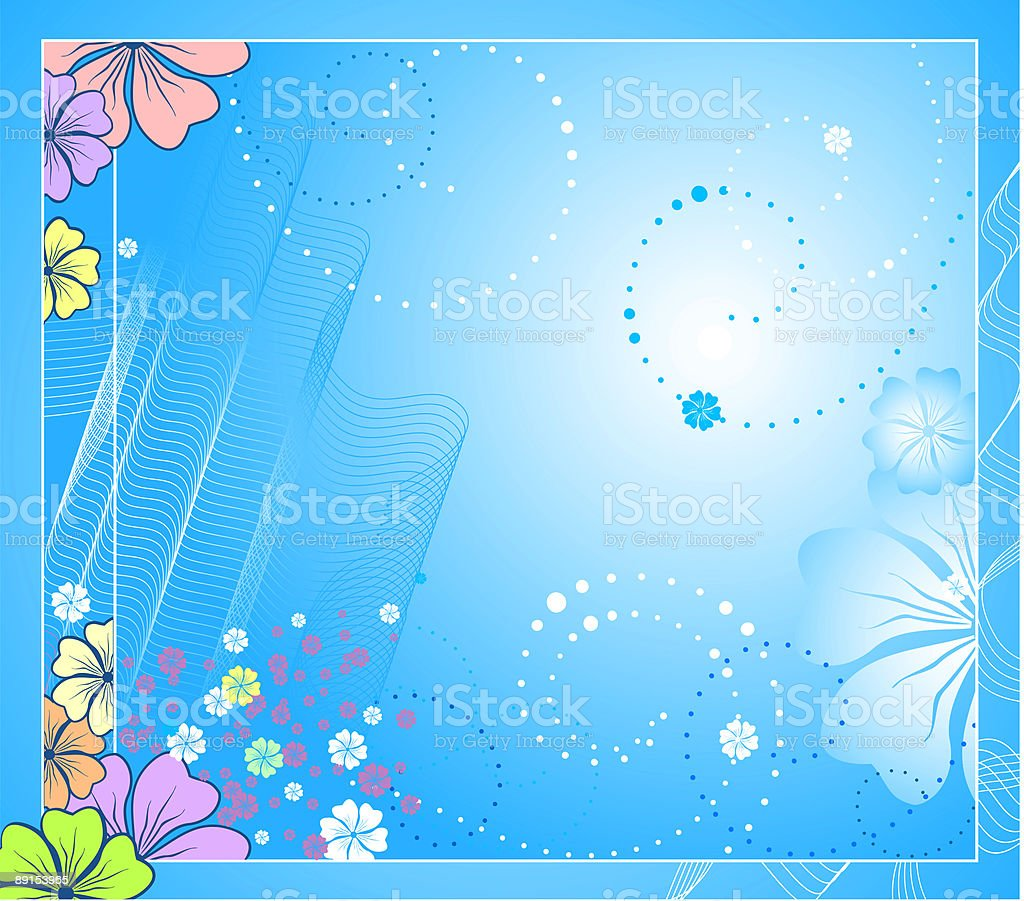 Vector floral background royalty-free stock vector art
