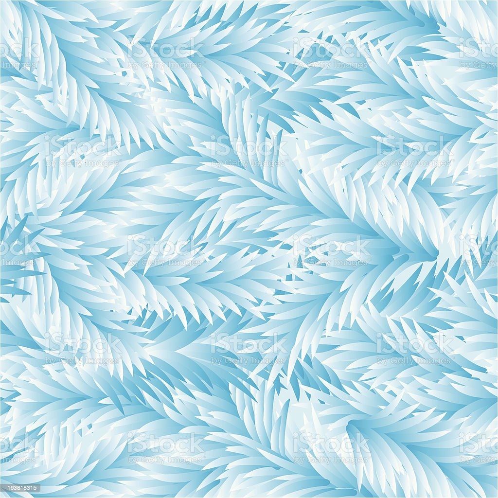 Vector. Frost Seamless Pattern royalty-free stock vector art