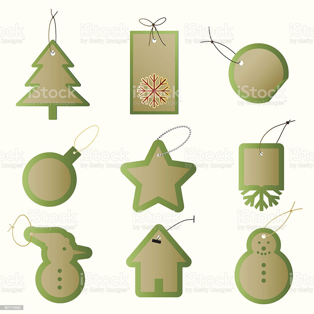 Vector Gift tags with christmas theme royalty-free stock vector art