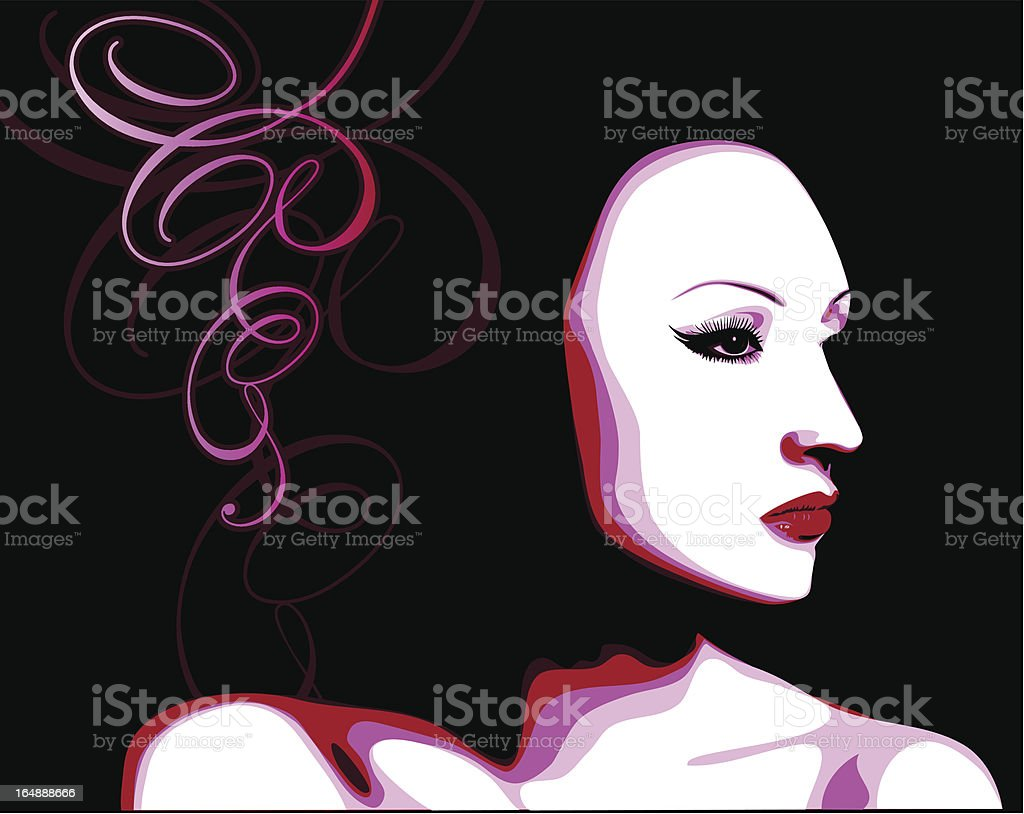 Vector girl royalty-free stock vector art