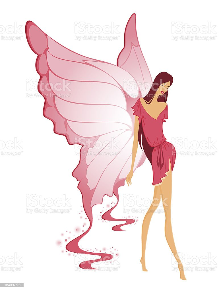 Vector girl with butterfly wings
