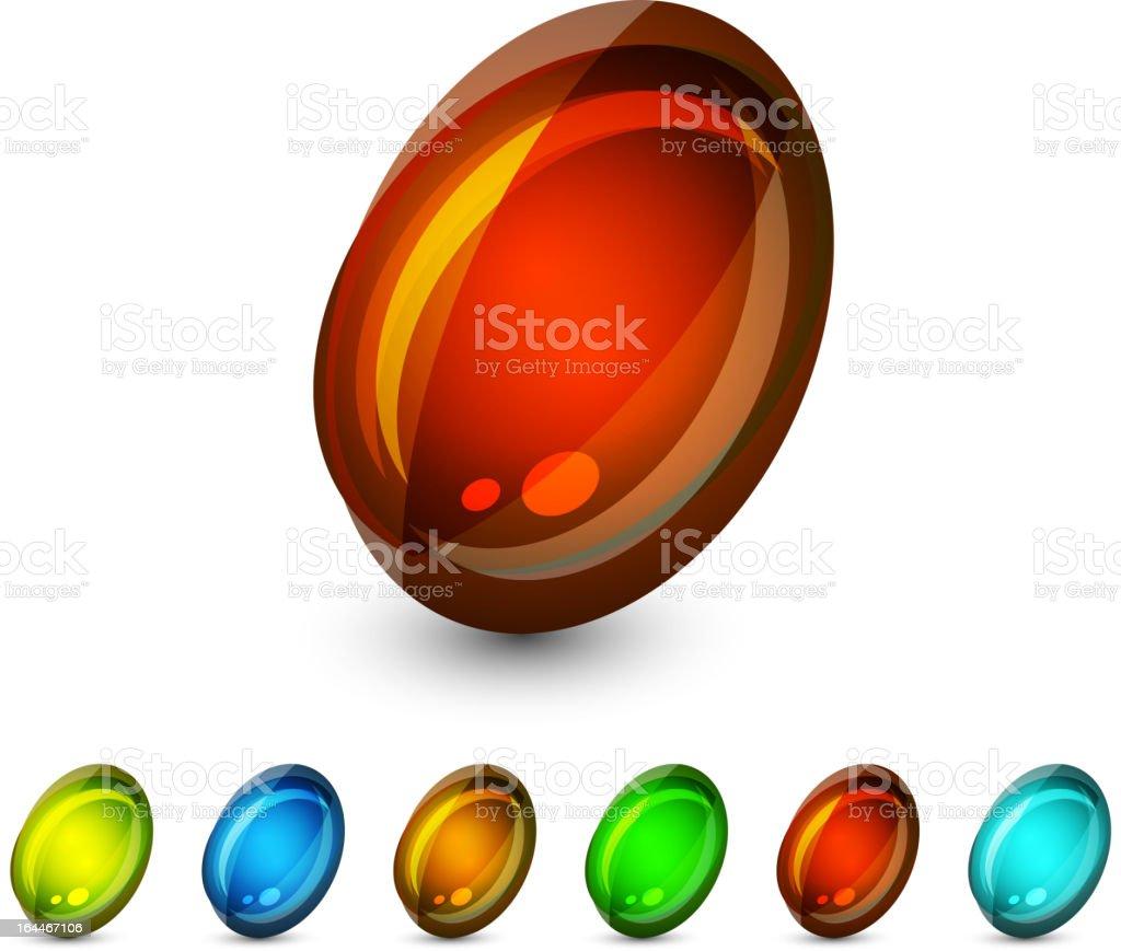 Vector glass stones royalty-free stock vector art