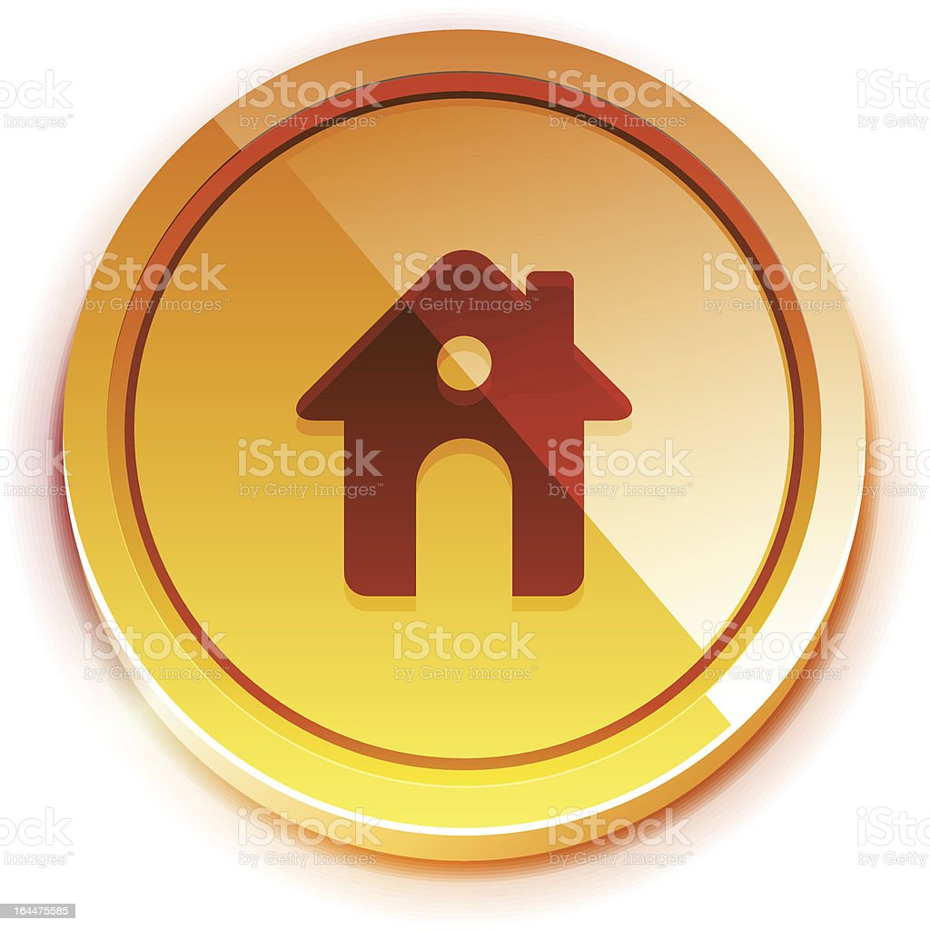 Vector glossy home buttons royalty-free stock vector art