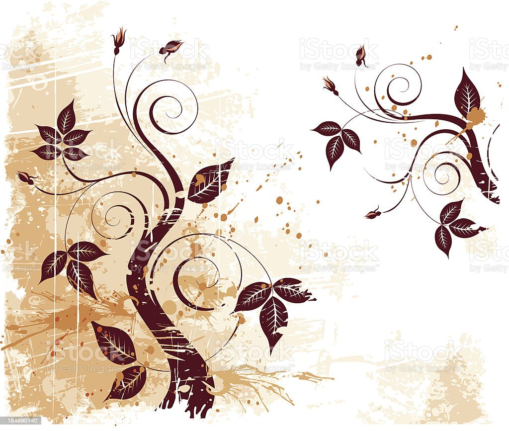 Vector Grunge Floral Background royalty-free vector grunge floral background stock vector art & more images of abstract