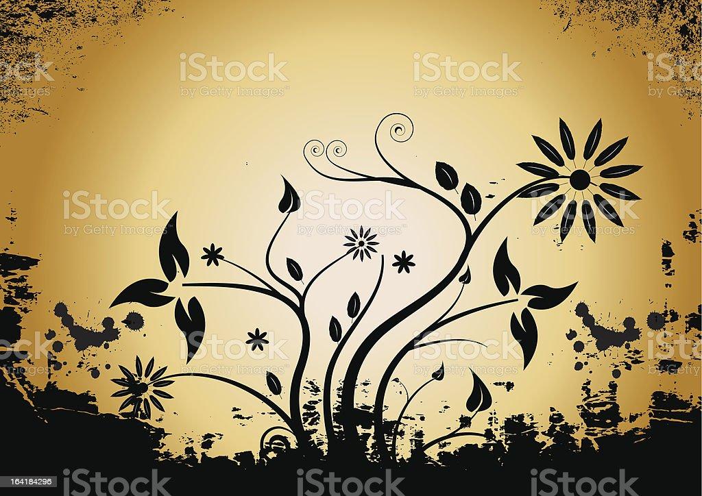 vector grunge floral design royalty-free stock vector art