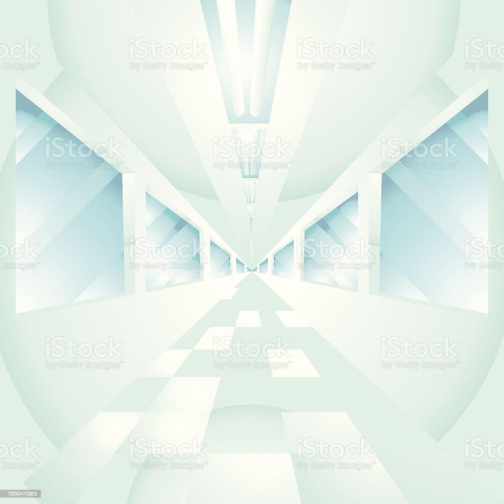 Vector hallways vector art illustration
