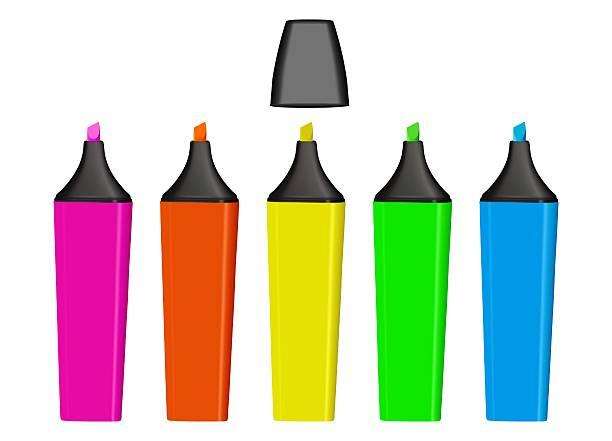 Vector Highlighters vector art illustration