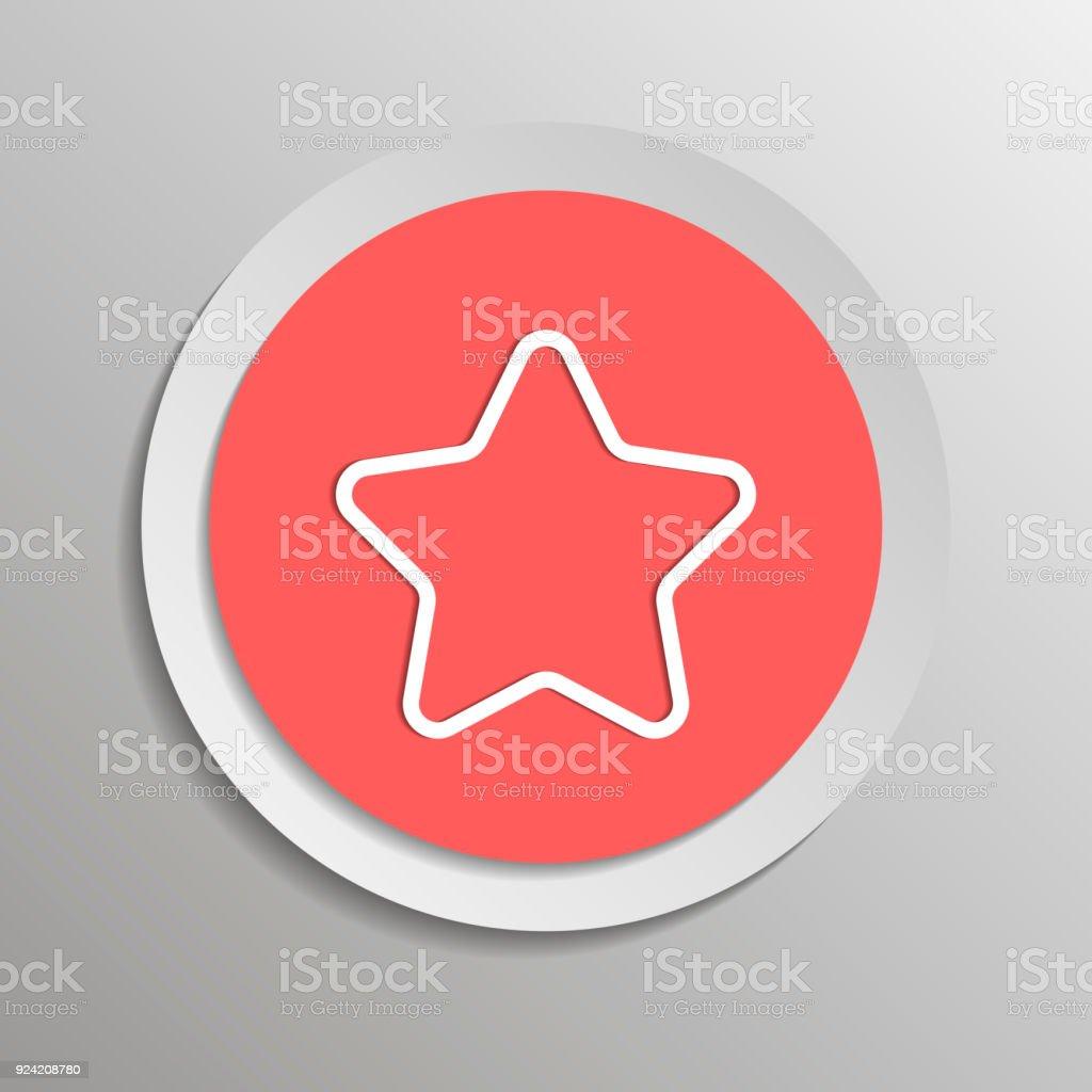 Vektorsymbol Fünfzackigen Stern Vektorillustration Auf Einem ...