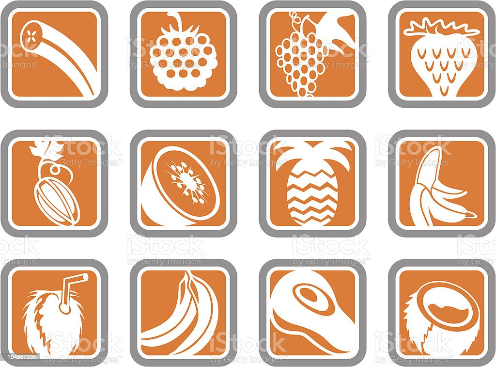 Vector Icons: Fruits royalty-free stock vector art