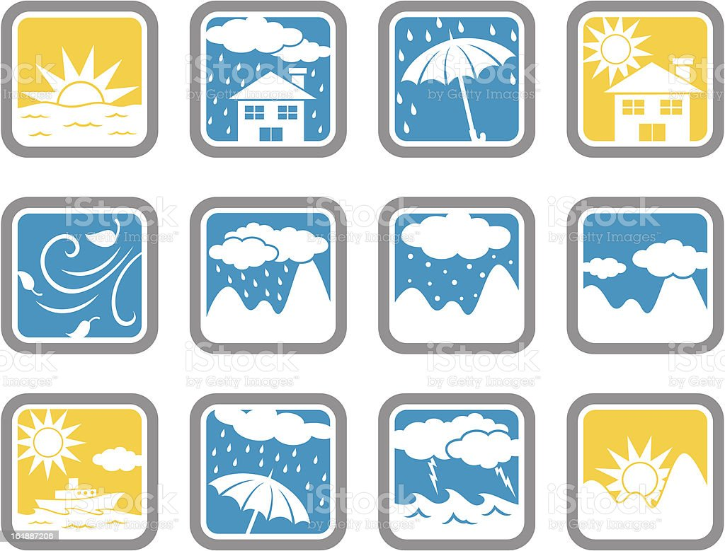 Vector Icons: Weather royalty-free stock vector art