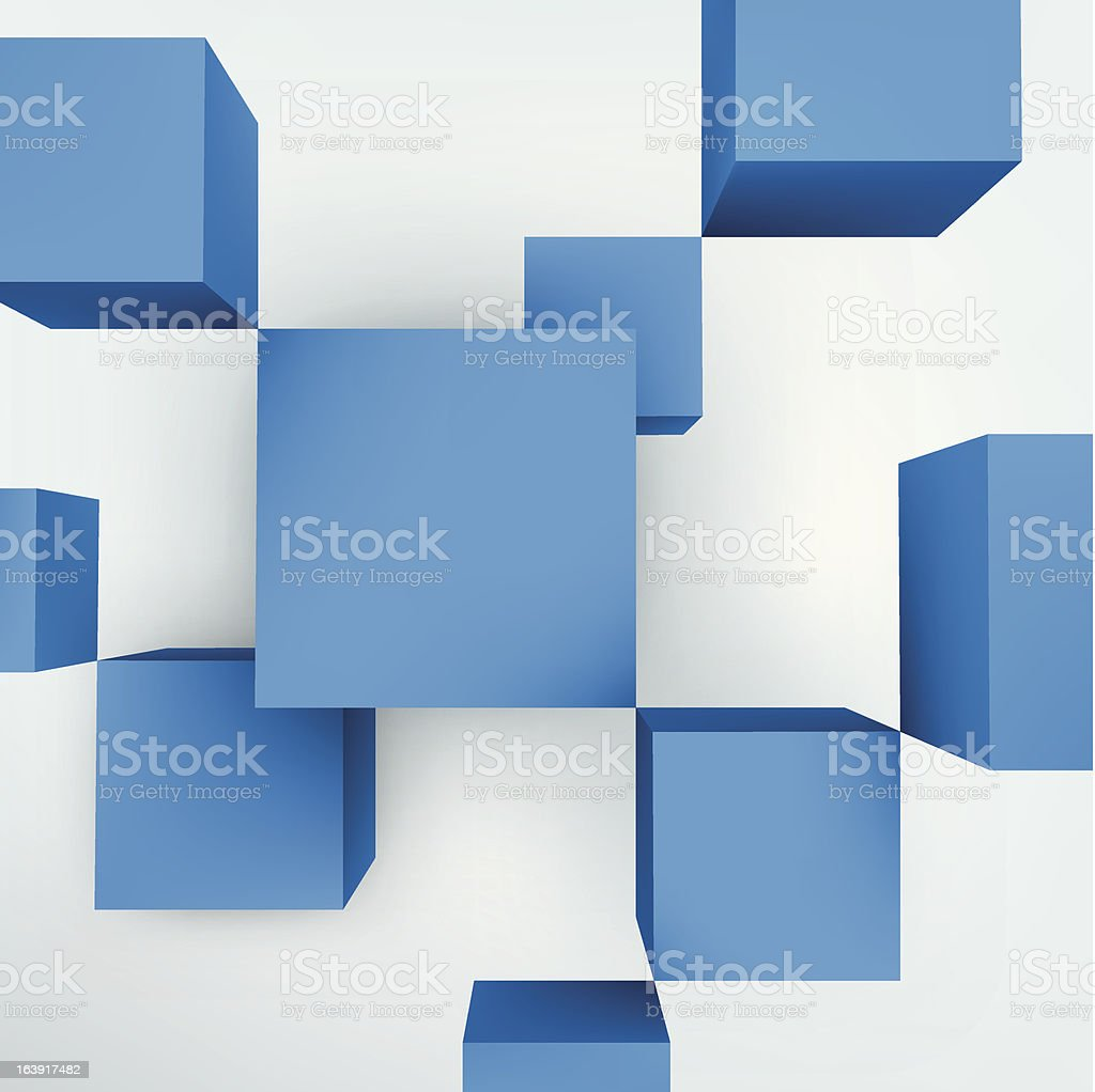 Vector illustration of 3d cubes royalty-free stock vector art