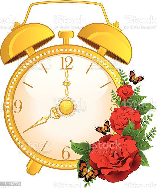 Vector illustration of classic alarm clock with flower illustration id164442770?b=1&k=6&m=164442770&s=612x612&h=kzth5gqgd0w7n1elv8on0w4pvsg fqm9himpvehndk8=