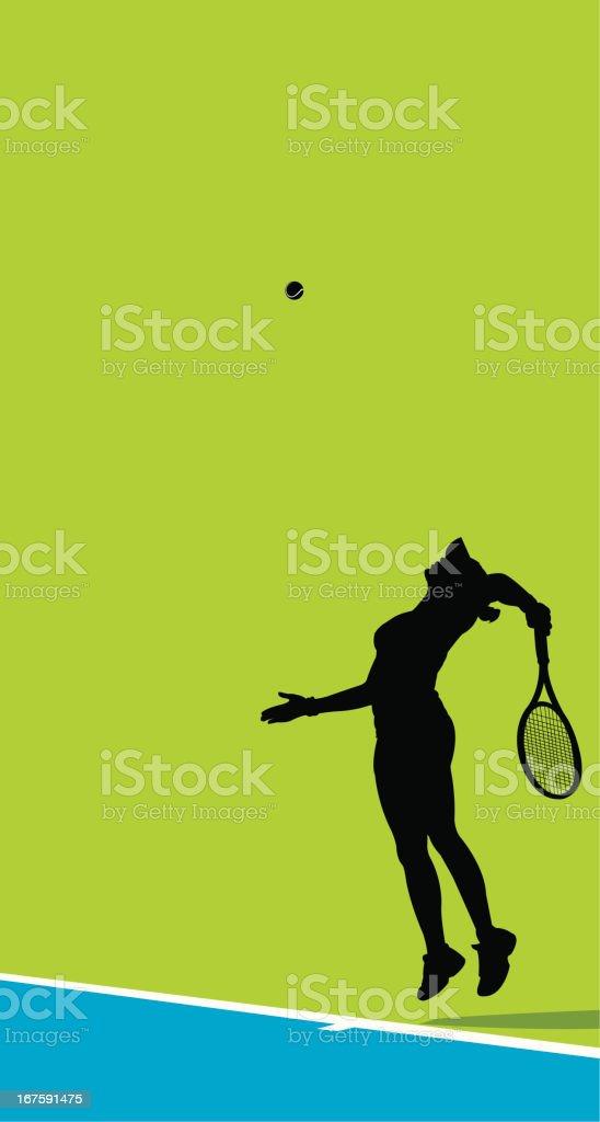 Vector illustration of female tennis player vector art illustration