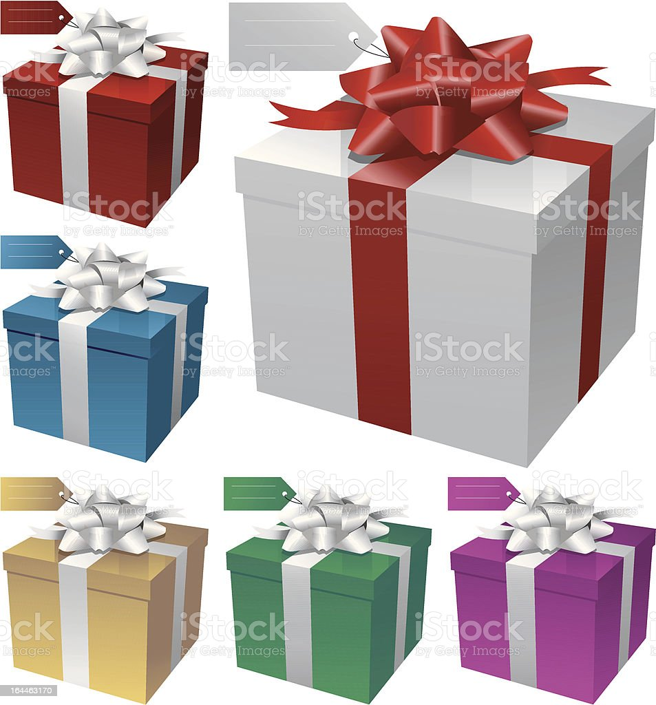 Vector illustration of gift boxes royalty-free stock vector art