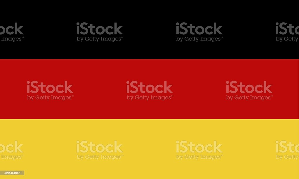 Vector illustration of modern-day German flag vector art illustration