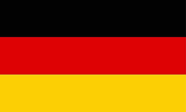 Vector illustration of modern-day German flag vector art illustration