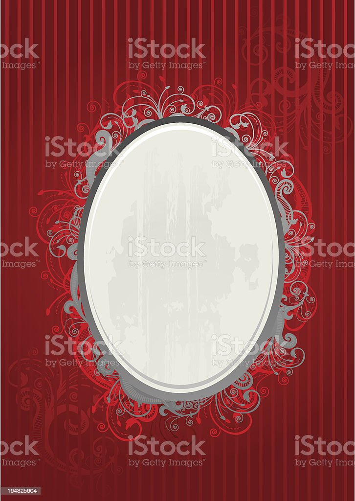 Vector illustration of red and gray frame royalty-free stock vector art