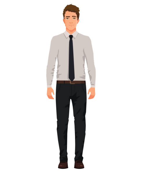 Vector illustration of three business men in official clothes with hand up. Question pose. Presentation pose. Cartoon realistic people illustartion. Front view man. Vector illustration of three business men in official clothes with hand up. Question pose. Presentation pose. Cartoon realistic people illustartion. Front view man. suave stock illustrations