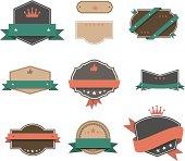 istock Vector illustration, retro-design vintage labels 163922703