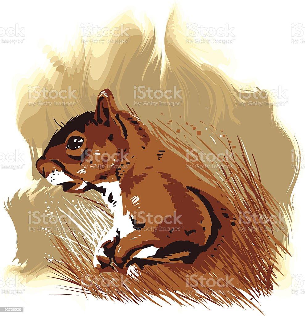 Vector little animal royalty-free stock vector art