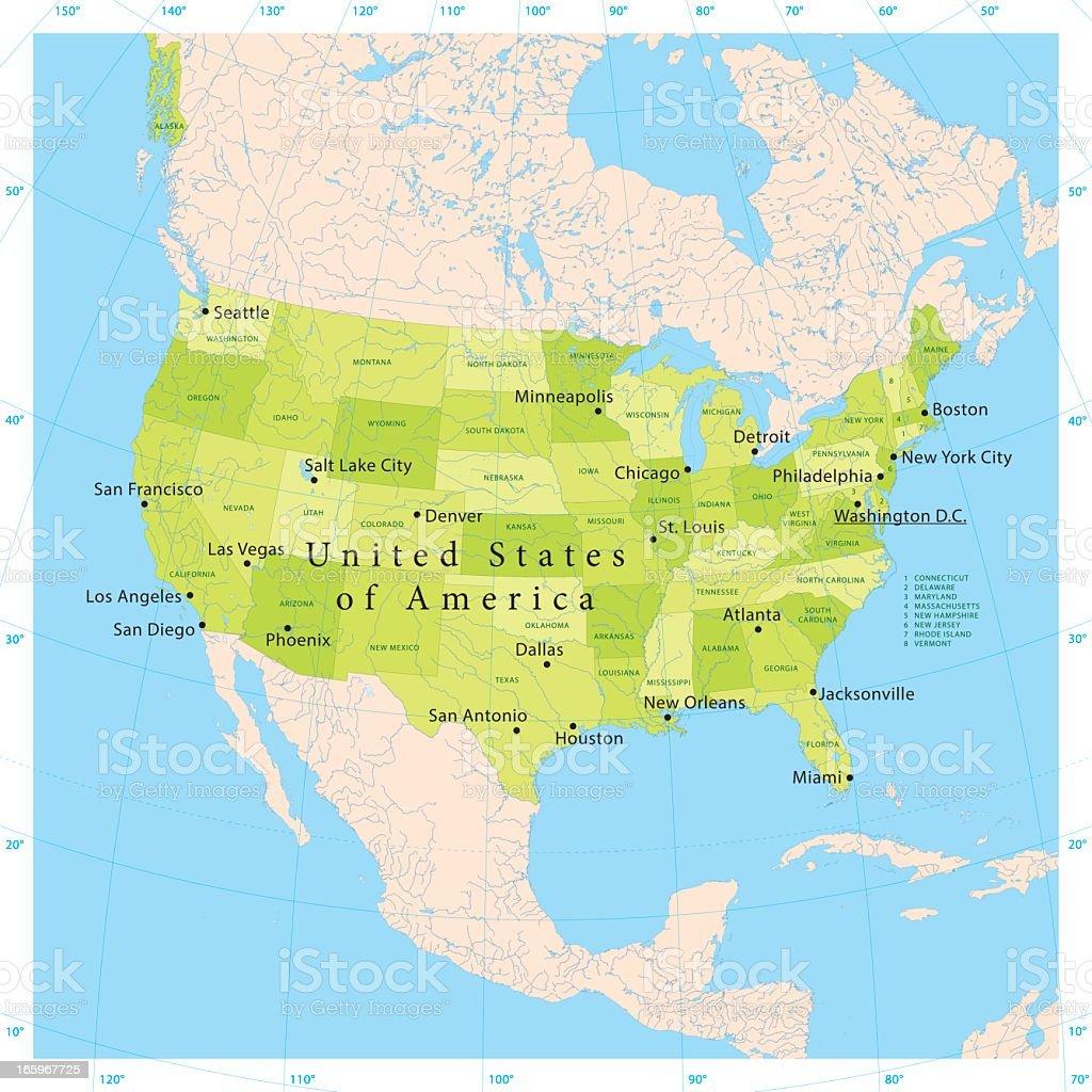 USA Vector Map royalty-free usa vector map stock vector art & more images of atlanta - georgia