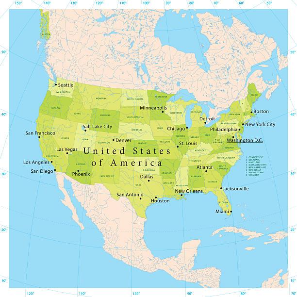 USA-Karte – Vektorgrafik