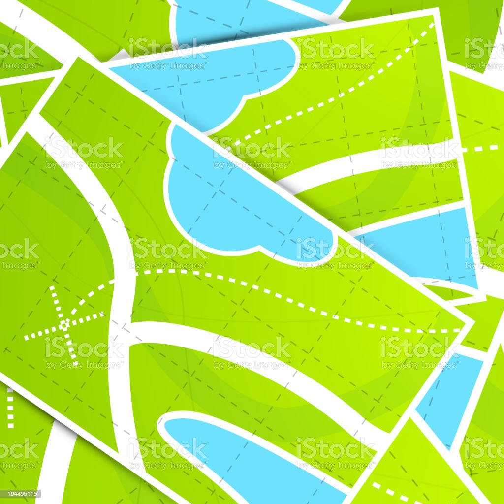 Vector maps background vector art illustration