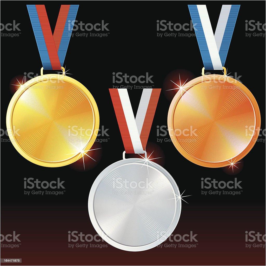 Vector Medals vector art illustration