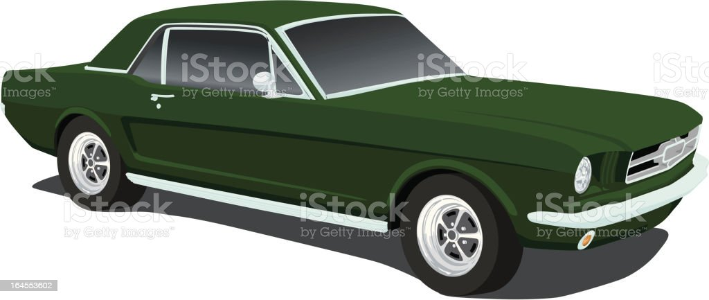 Vector Mustang From 1965 Vector Art Illustration