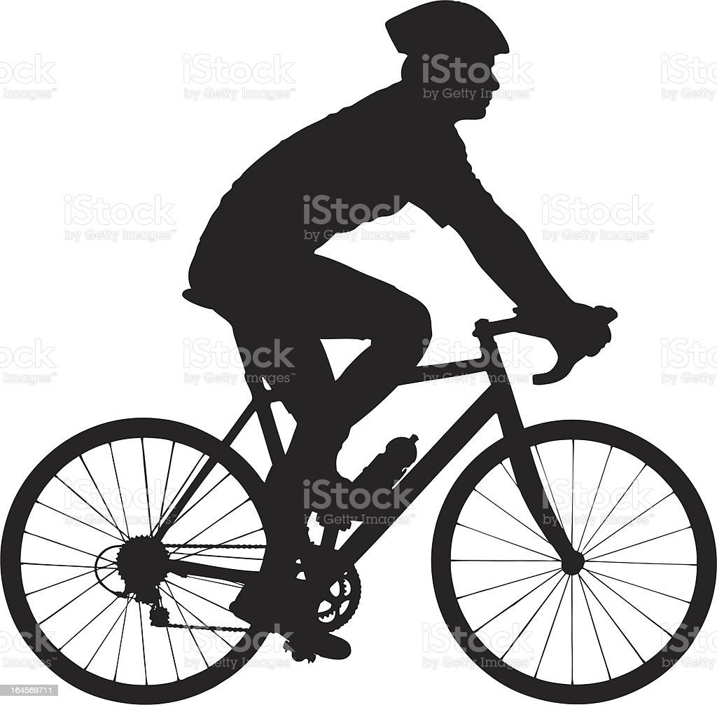 Vector of a biker with helmet biking vector art illustration