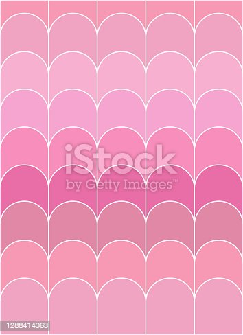 istock Vector of a pink gamut color scales, pattern, texture, background. 1288414063
