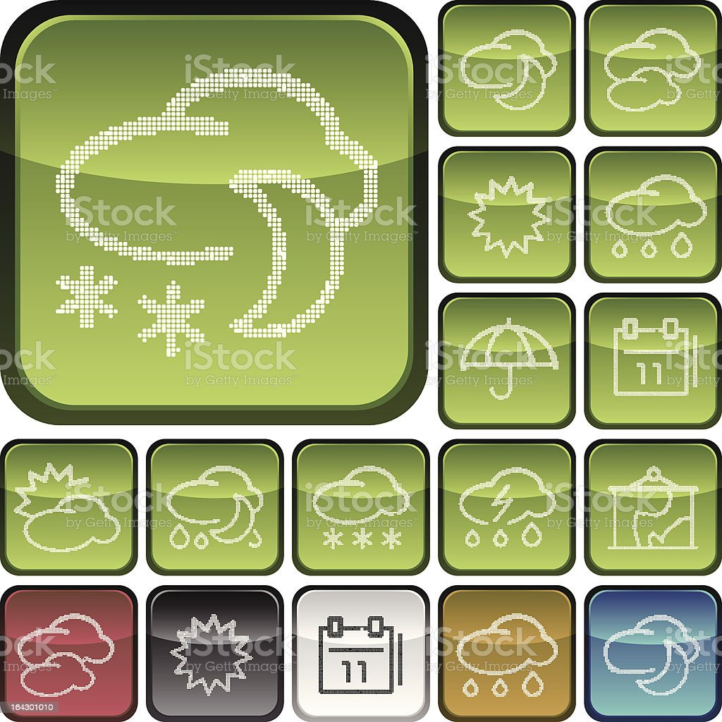 Vector of weather related icons royalty-free stock vector art