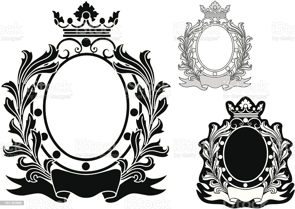 Vector oval frame royalty-free vector oval frame stock vector art & more images of art