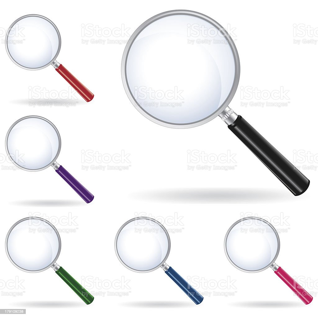 vector pack magnifying glass isolated royalty-free vector pack magnifying glass isolated stock vector art & more images of aspirations