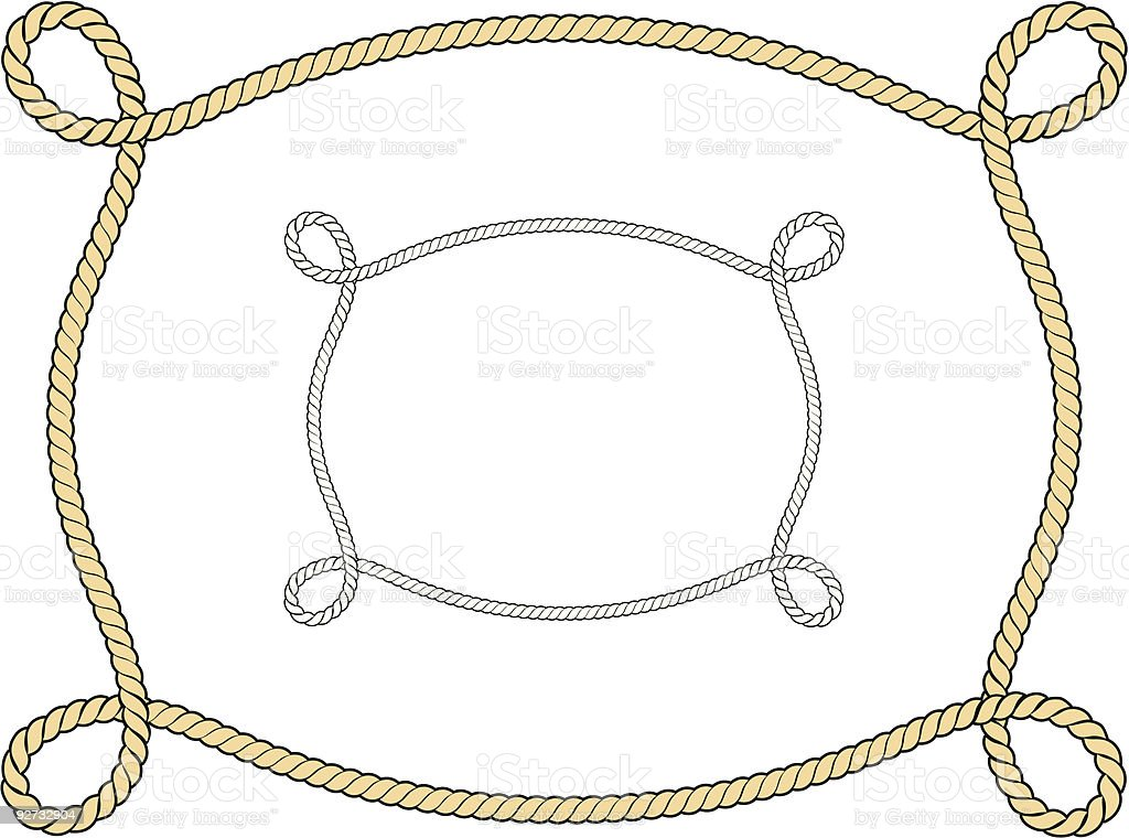 Vector rope borderframe stock vector art more images of for Rope designs and more