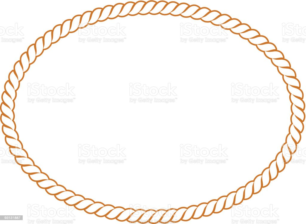 vector rope oval 91604 stock vector art   more images of color image 93131887 istock round rope border vector rope border vector art free