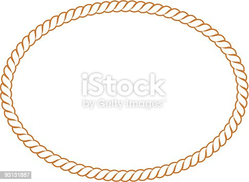 istock Vector Rope Oval -91604 93131887