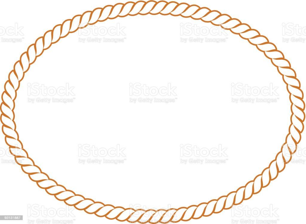 Vector Rope Oval -91604 vector art illustration
